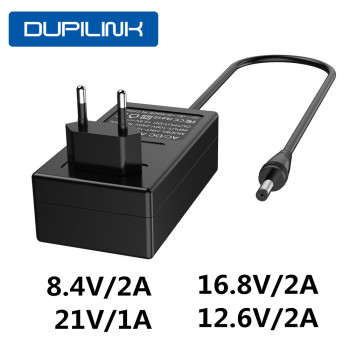 8.4V/16.8V/21V 12.6V Lithium Batterij Oplader Dc 5.5*2.1 Mm 18650 Polymeer eu/Us Plug Lithium Li-Ion Batterij Oplader Power Adapter