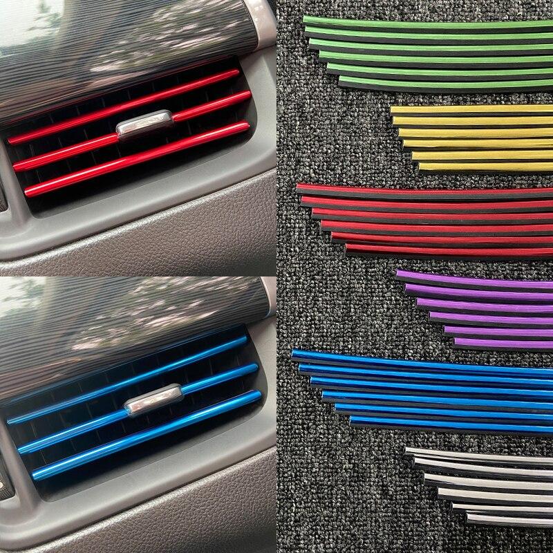 10 шт./лот молдинги для стайлинга автомобиля, отделочные полосы для воздуховода, решетки для вентиляции, обода, отделочные полосы, покрытие, а...