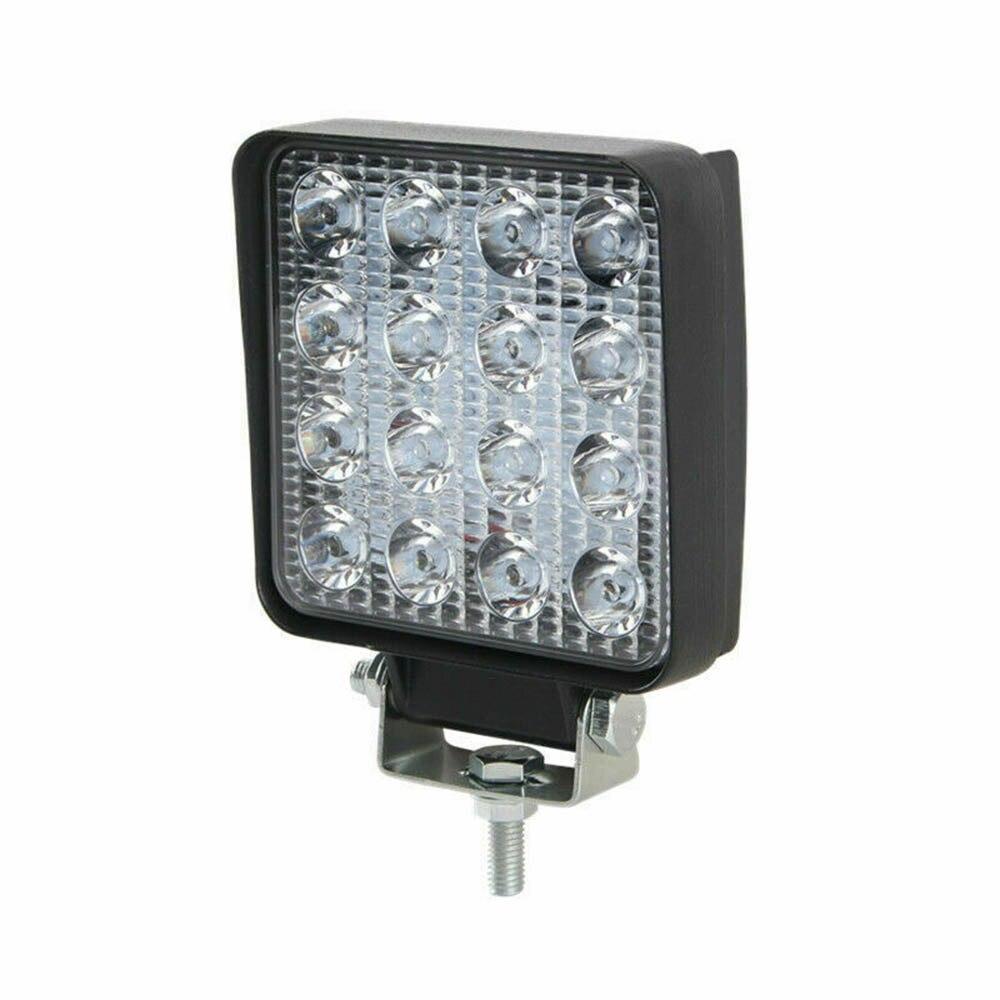 2X 48W LED Work Driving Light 12V 24V Lamp Spotlight For Offroad Truck Car 6000k