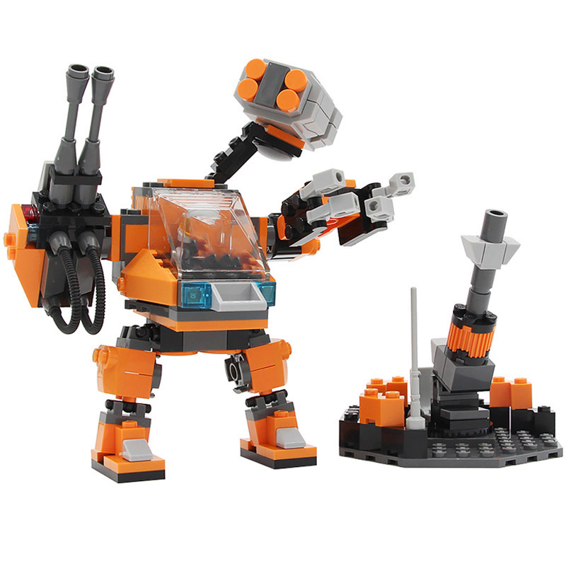 Military Space War Series Bricks Robot Aircraft Tank Building Blocks DIY Model Compatible Toys For Boy Children Gifts