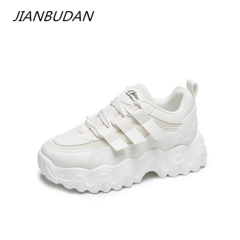 smile circle breathable mesh sneakers platform casual shoes for women 2018 autumn lace up mixed colors chunky sneakers JIANBUDAN Chunky Sneakers Spring casual mesh shoes Women's breathable platform sneakers  Lace-Up Girl shoes Outdoor fashion