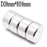 100 pieces. 20mm x 10mm Super Strong Round Powerful Rare Earth Magnet Neodymium Magnets Neodymium Magnet N35 20mm * 10mm