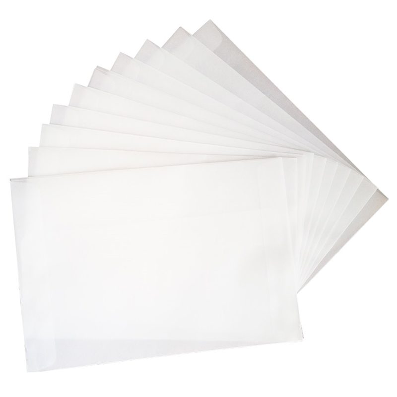 100Pcs/Lot Blank Translucent Vellum Envelopes Diy Multifunction Gift Card Envelope