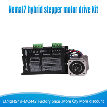 42mm 0.4N.M Nema17 Stepper Motor 42 motor Nema 17 step motor LC42HS48+ MC442 microstep drive kit 1.2A  4-lead for 3D printer