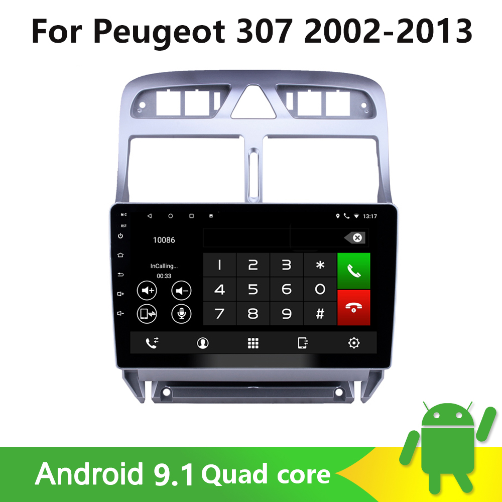 <font><b>2din</b></font> Android car DVD multimedia player <font><b>for</b></font> <font><b>Peugeot</b></font> <font><b>307</b></font> 307CC 307SW 2002-2013 car radioMP5 GPS navigation WiFi Bluetooth player image