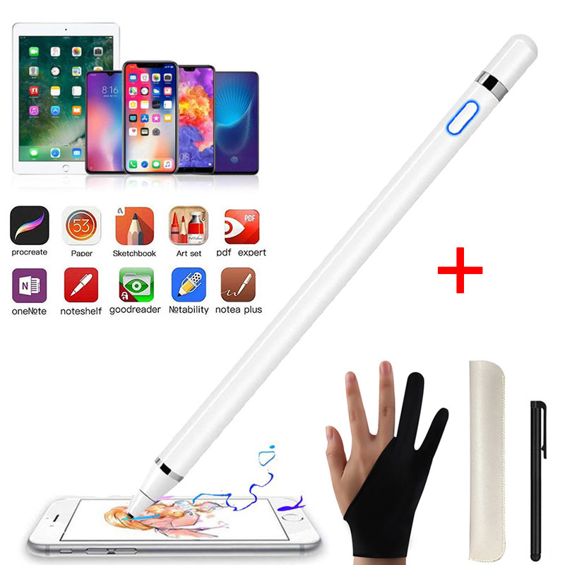 Active Stylus Touch Pencil For Apple IPad Mini Pro Tablet Drawing Capacitive Stylus Pen High Precision For IPhone Huawei Xiaomi