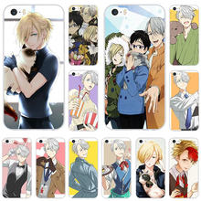 Lembut TPU Silikon Ponsel Case untuk iPhone 7 6S 6 Plus 5 5S 5C Se X XR XS max 4 4S Coque Shell Anime Yuri On Ice Gaya(China)