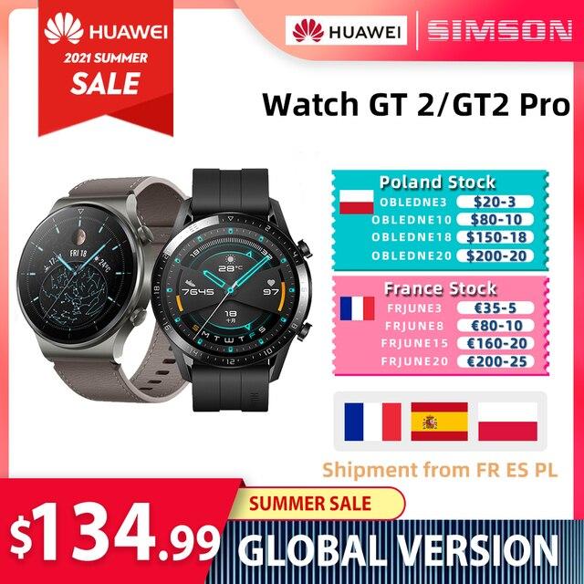 HUAWEI Watch GT 2 Pro/GT2  SmartWatch 14 Days Battery Life GPS Blood Oxygen Wireless Charging Kirin A1 Global Version Original