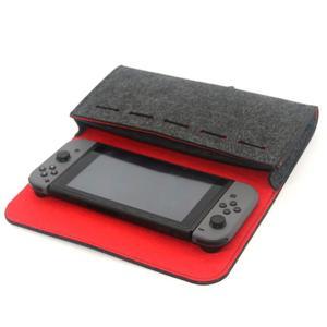 Image 2 - 스위치 케이스 게임 액세서리에 대 한 펠트 휴대용 스토리지 가방 NS 닌텐도 스위치 콘솔 게임 가방에 대 한 운반 케이스 메모리 카드 홀더