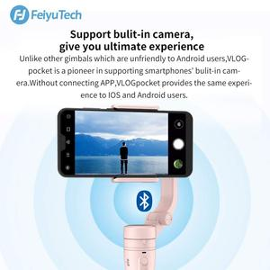 Image 4 - FeiyuTech Vlog כיס מיני כף יד Smartphone Gimbal מייצב selfie מקל עבור iPhone X 8 7 6, HUAWEI P30 פרו 、 MI 9 、 VIVO (ורוד)