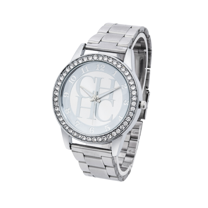 Luxury Brand CH Women Watch Fashion Classic Luxury Stainless Steel Watches Rhinestone Quartz Women Wristwatches Relogio Feminino