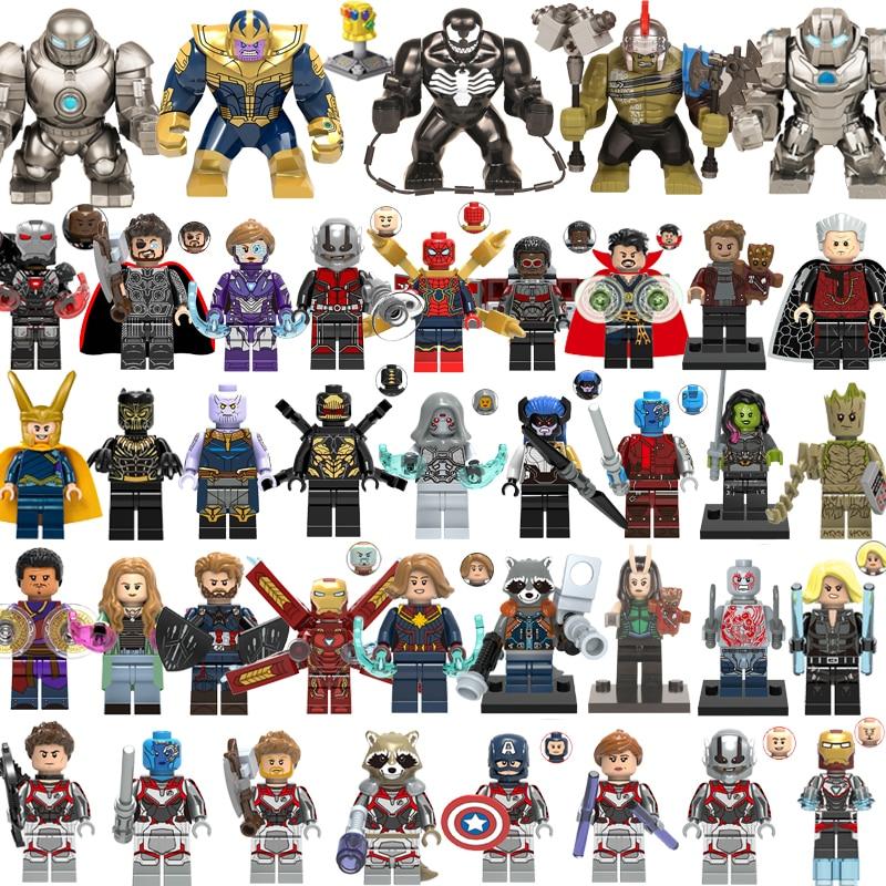 41pcs/lot LegoINGly SuperHero Action Figure Captain Marvel Avengers Thor Thanos Hulk Building Blocks Ant Man Wasp Venom DIY Toys