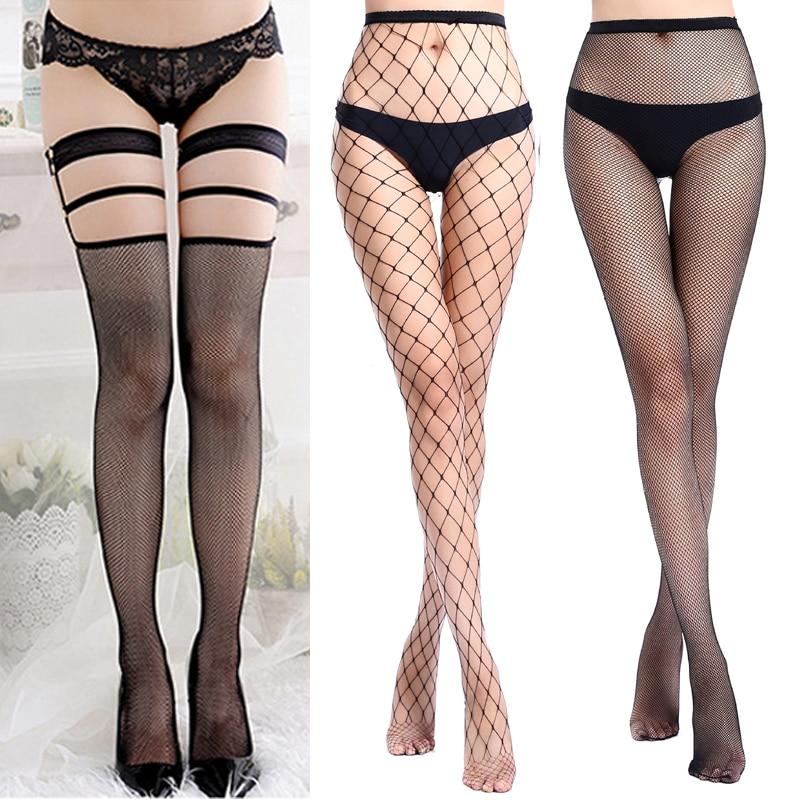 1/2/3pcs Sexy Mesh Stocking Women Sexy Erotic Stockings Female Over Knee Thigh High Stockings Fishnet Pantyhose Medias Hosiery