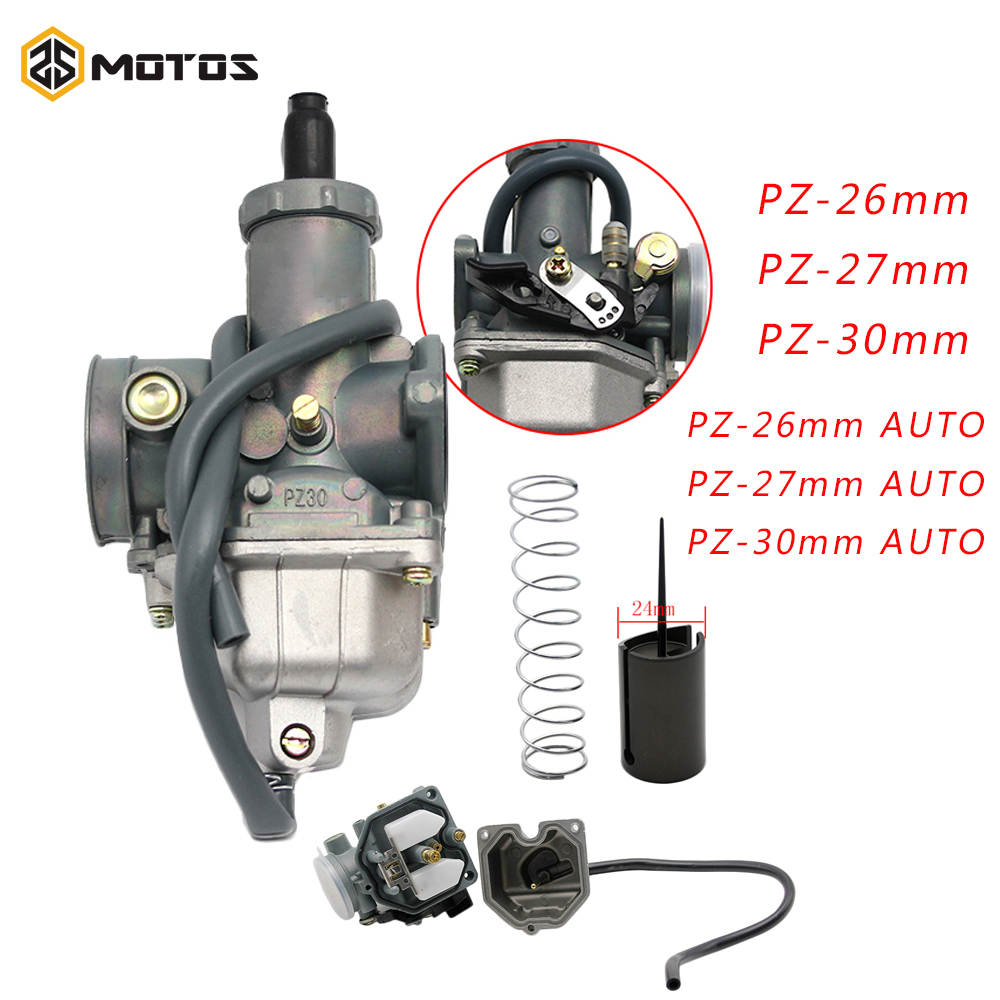 ZS MOTOS New  PZ26 PZ27 PZ30 Motorcycle Carburetor Carburador Used For Honda CG125 And Other Model Motorbike