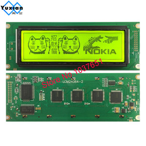 Image 5 - 24064 240*64 lcd display panel green blue screen  graphic module UCI6963 or T6963  LCM24064 2 LM24064DBY  free shipping 1pcs