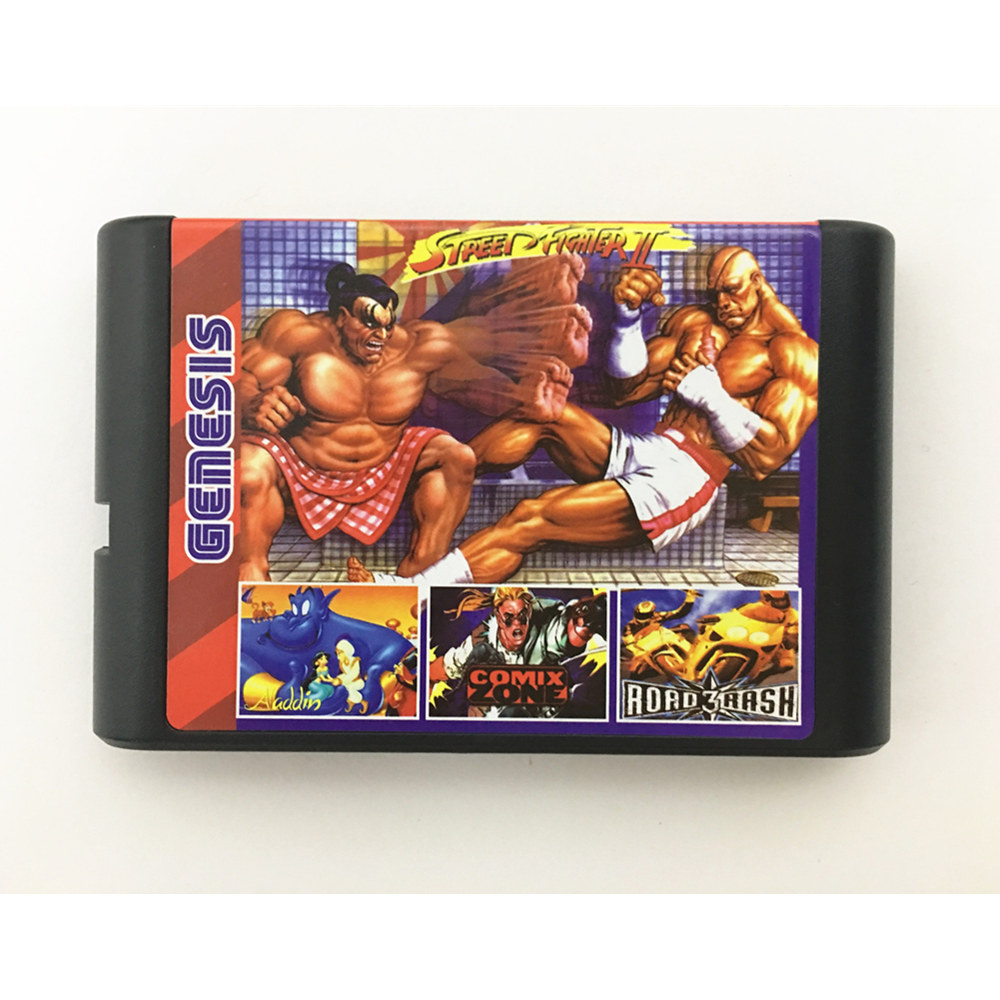 Battery save !New Arrival 196 in 1 Hot Game Collection For SEGA GENESIS MegaDrive 16 bit Game Cartridge For PAL and NTSC image