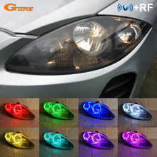 Seat leon için Mk2 1P facelift 2009 2010 2011 2012 RF uzaktan Bluetooth APP Ultra parlak çok renkli RGB led melek gözler kiti