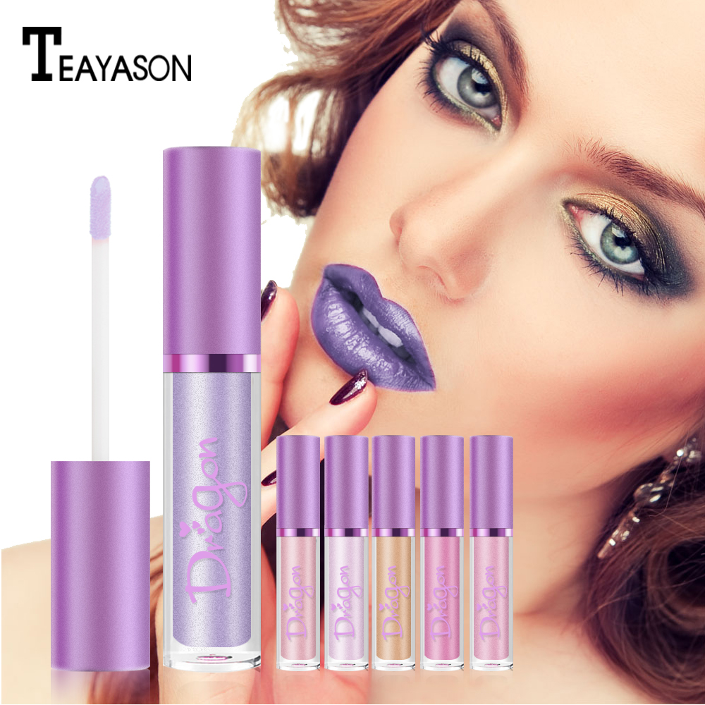 Brand Long Lasting Moisturizer Glitter LipGloss Tint Cosmetics Nutritious Waterproof Shimmer Lipstick Beauty Lip Makeup TSLM1