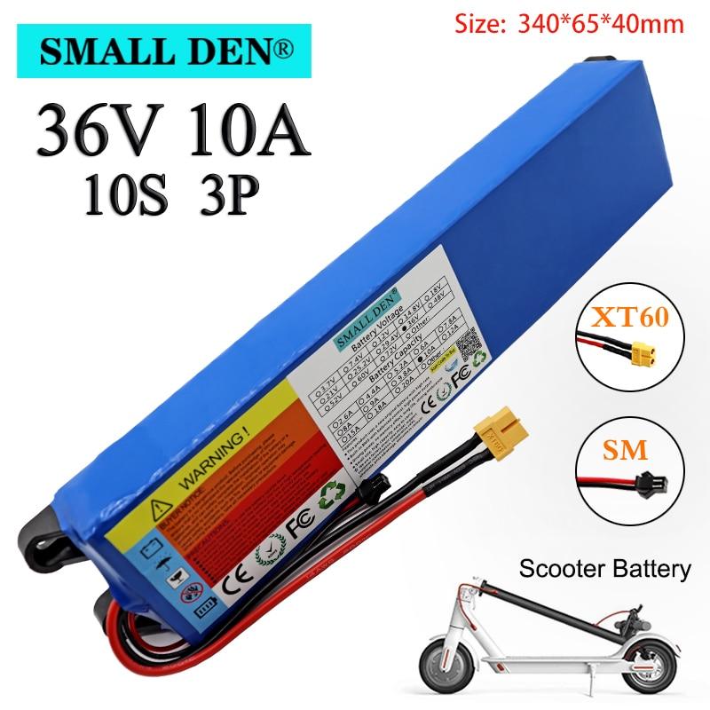 36v 10ah 18650 bateria de lítio recarregável 10s3p 500w de alta potência para bicicletas modificadas scooter veículo elétrico, com bms xt60