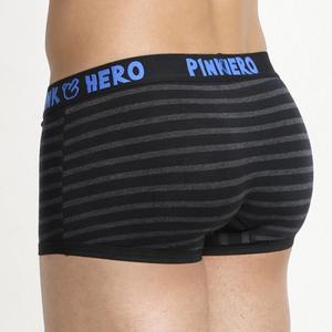 Image 3 - Hot 5pcs/Lot Pink Heroes High Quality Cotton Underwear Men Boxer Shorts Classic Striped Male Underpants Comfortable U bag