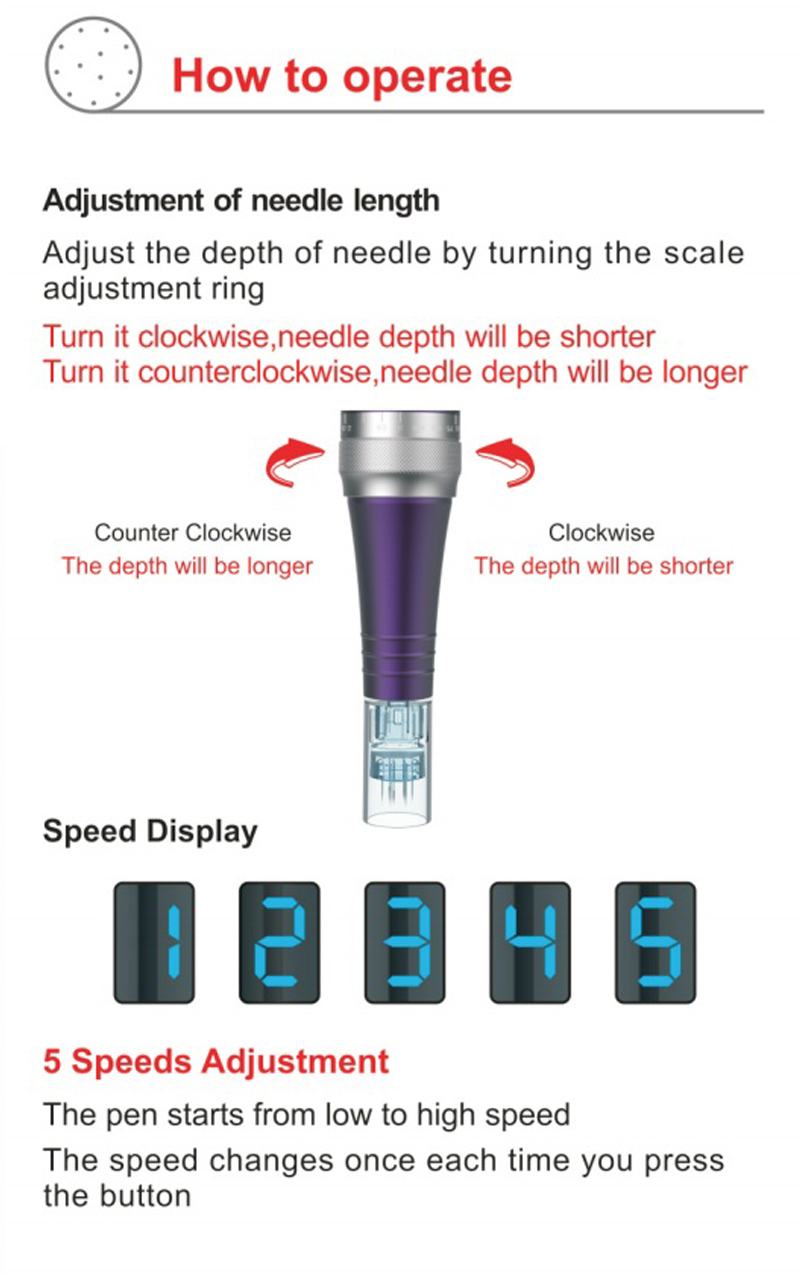 Dr. caneta micro needling máquina sem fio