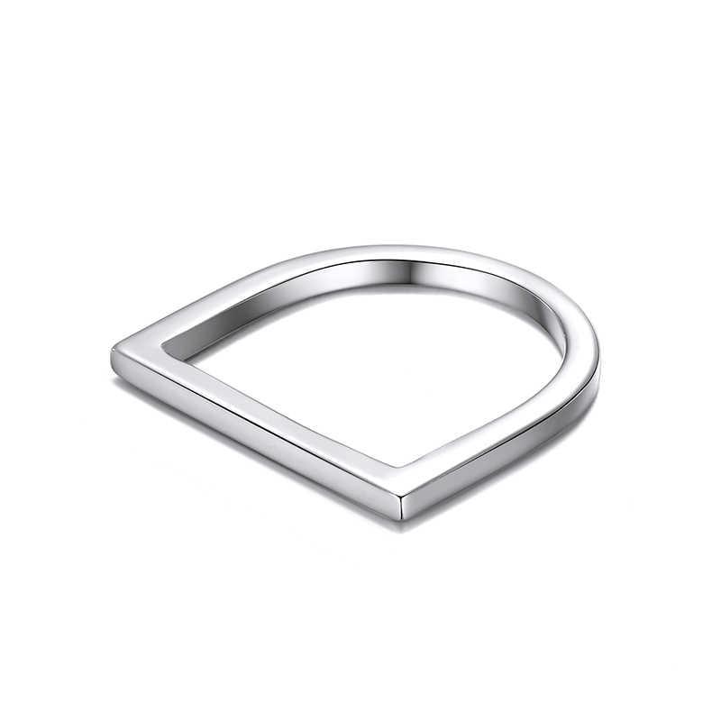 Hip Hop ยอดนิยมแหวนสแตนเลสสำหรับสุภาพสตรีเรขาคณิต Punk แหวนนิ้วมือส่วนบุคคล Minimalist ผู้หญิงเครื่องประดับ