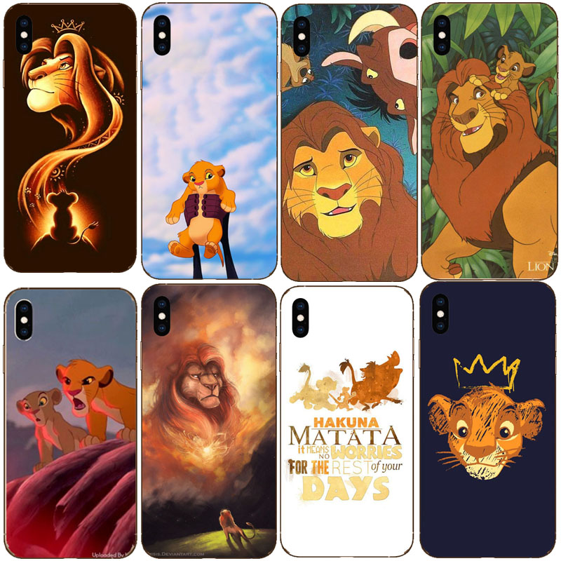 The <font><b>Lion</b></font> <font><b>King</b></font> Best Coque Shell Luxury Soft silicone transparent TPU Phone <font><b>Case</b></font> For <font><b>iPhone</b></font> XS MAX XR 8 7 <font><b>6</b></font> 6S Plus X 5S <font><b>Cases</b></font> image