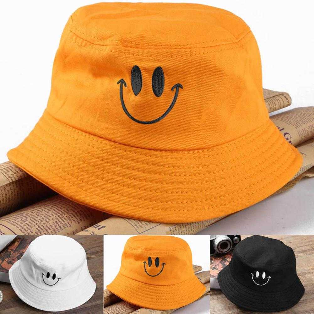 Casual Fisherman Hunting Hat Smile Face Sunhat Protection Cotton Fisherman Hat Bob Hip Hop K Pop Gorros Fishing Hat Chapeau Femm