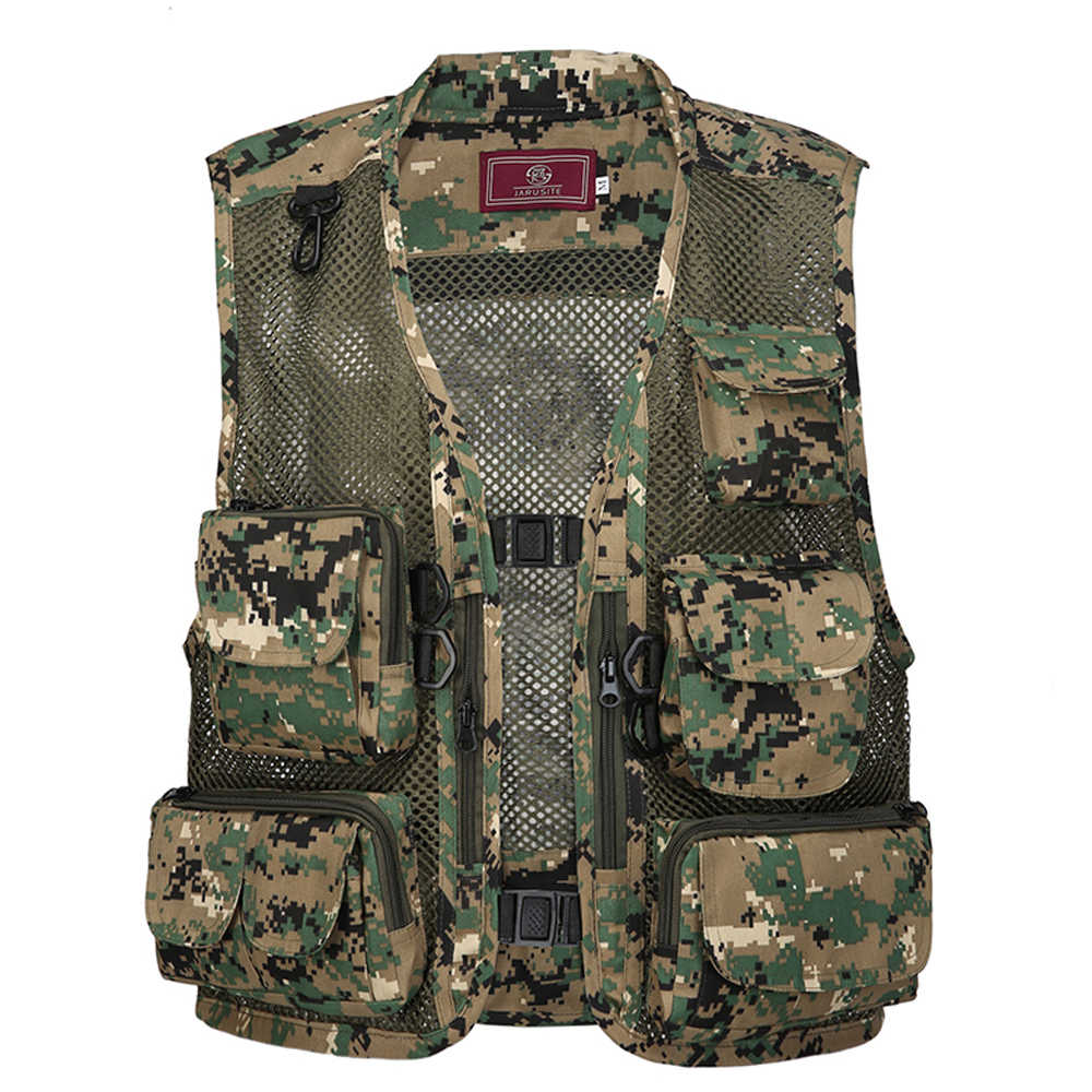 Fishing Photography Vest Summer Multi Pockets Mesh Jackets Quick Dry