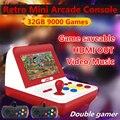 Jxd novo 4.3 polegada retro mini arcade console 32 gb embutido 9000 jogo para cp1/cp2/neogeo/gba/gb/snes/nes/sega/bin punho livre * 2 mp4