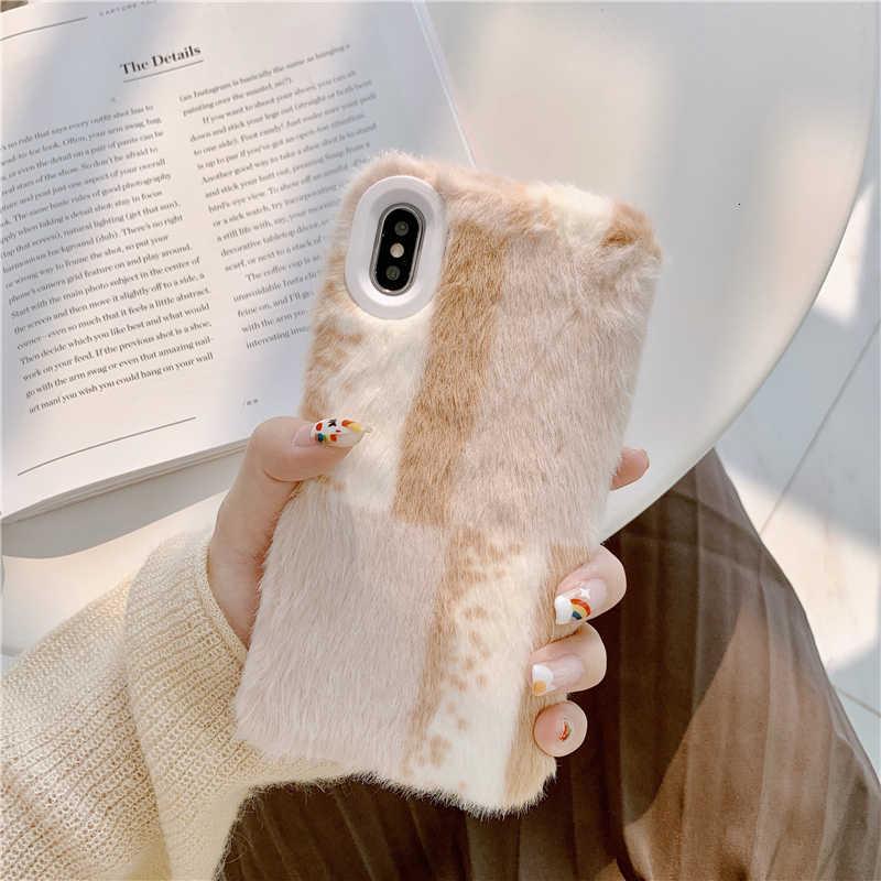Новинка Чехол для мобильного телефона из ТПУ с кроличьей шерстью для женщин 2019 iphone 11 pro MAX, чехол для iphone 7, чехол для iphone 6 8 X XR XS MAX