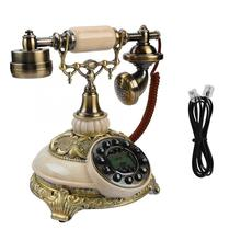 FSK/DTMF Vintage teléfono antiguo 38-registros de llamadas de grupo un botón Redial teléfono antiguo hogar teléfono Vintage