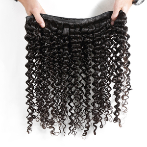 Image 2 - Poker Face Deep Wave 8 28 30 Inches Brazilian Remy Hair 100% Human Hair Weaving Water Weave 3 4 Bundles Double Drawn Curly