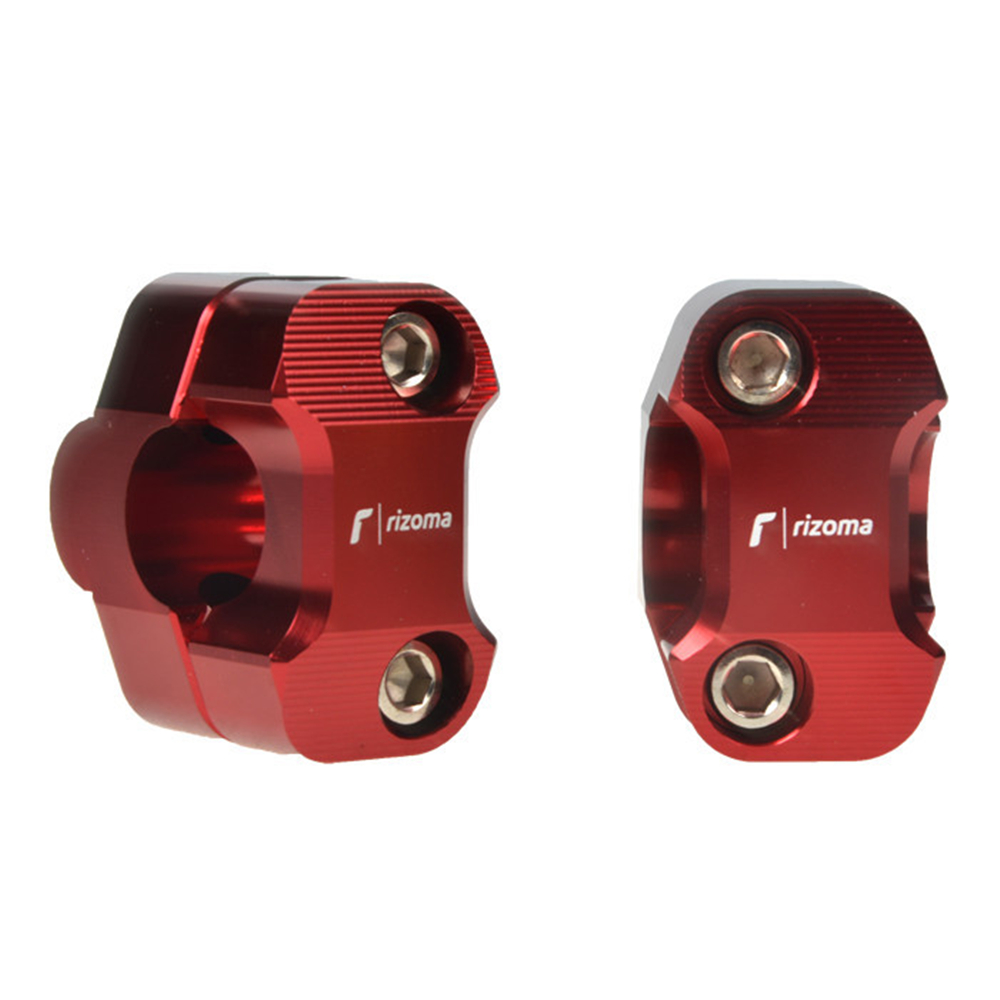 Universal RIZOMA Logo Motorcycle <font><b>28mm</b></font> <font><b>Handlebar</b></font> <font><b>Riser</b></font> Clamps Steering Wheel Clamps for CB500X CB150R Monster 821 GXSR 750 MT 03 image