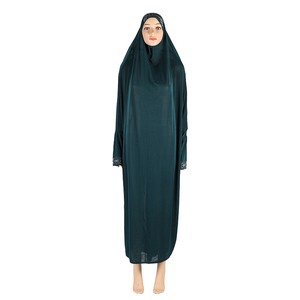 Image 5 - สตรีมุสลิมสวดมนต์ยาว Abaya ฝาครอบ Hijab Overhead Kaftan Jilabb อิสลามแขนค้างคาว Niqab Jilbab Robe ดูไบ