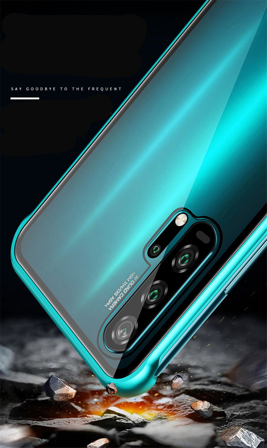 R-just Borderless Series Metal Frame Phone Case For Huawei Honor 20 Protect Case Glass Back Cover Cases For Huawei Honor 20 Pro (11)