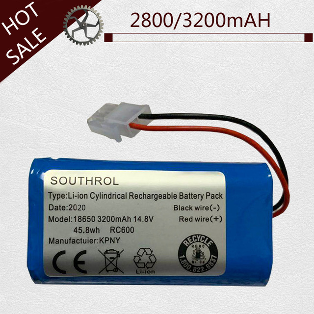 Wysokiej jakości 14.8V 2800mAh/3200mAH akumulator Chuwi akumulator do baterii ILIFE ecovacs A4S V7s A6 V7s pro Chuwi iLife