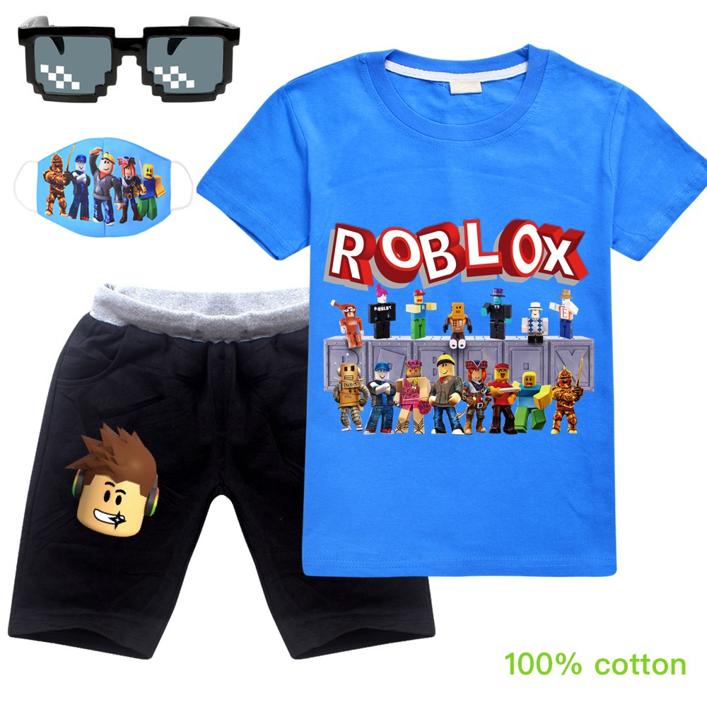 Roblox Kids Clothes Toddler Boys Cartoon Outfits Baby Girls Summer