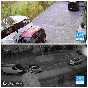 Image 5 - H. Görüş güvenlik kamera sistemi 8ch CCTV sistemi 4 1080P güvenlik kamerası Video gözetim kiti 8ch DVR Video gözetleme açık