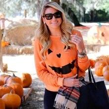 halloween printed pumpkin womens hoodies plus size sweatshirt oversized hoodie vintage print pullovers streetwear woman plus size galaxy tree printed hoodie