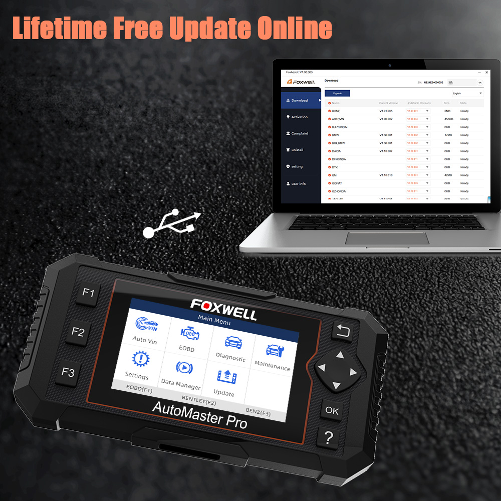 Image 5 - Foxwell NT614 Elite OBD2 Car Diagnostic Tool OBD2 Code Reader ENG/ABS/SRS/SAS+EPB/Oil Service Reset ODB2 OBD2 Automotive Scanner-in Code Readers & Scan Tools from Automobiles & Motorcycles on