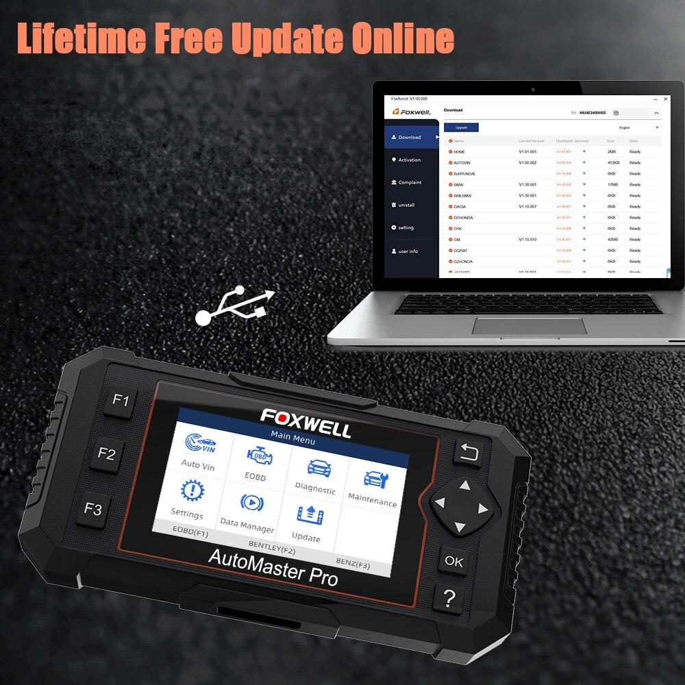Image 5 - Foxwell NT614 Elite OBD2 автомобильный диагностический инструмент OBD2 считыватель кодов ENG/ABS/SRS/SAS + EPB/масляный Сервис Сброс ODB2 OBD2 автомобильный сканер-in Считыватели кодов и сканирующие инструменты from Автомобили и мотоциклы on