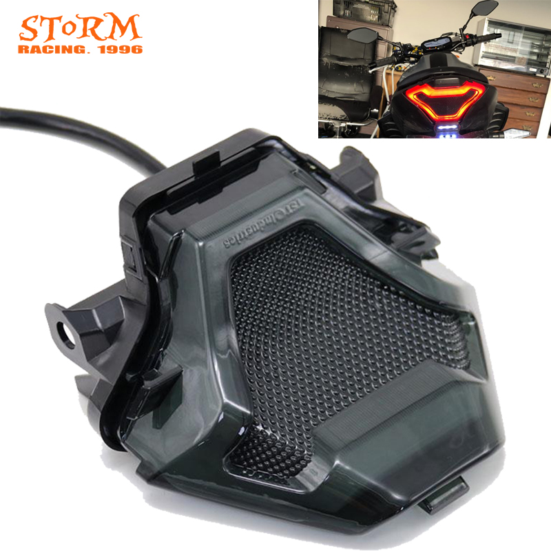 Motorcycle LED Taillight Brake Rear Turn Signal Indicator Lamp Tail Light For Yamaha YZF R3 R25 Y15ZR MT07 FZ07 LC150 MT-07 YZ-F