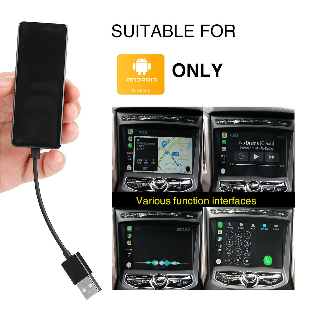 Portable USB Car Play Dongle USB CarPlay Navigation Player Adapter Plug and Play for Touch Screen Mobile Charger Android Only