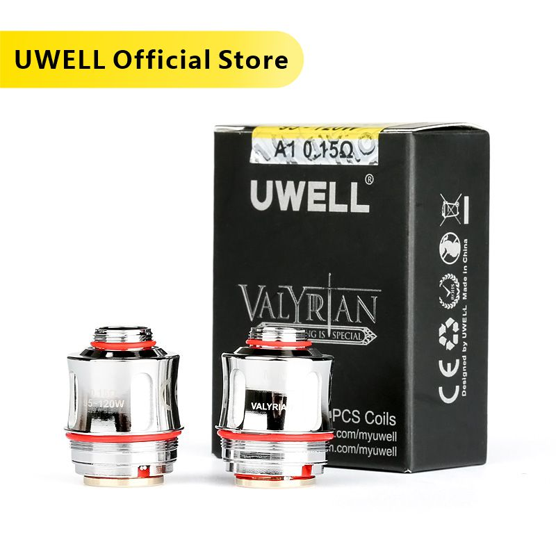 UWELL 2 Pcs /Pack VALYRIAN Replacement Coil UN2 Mesh Coil 0.18ohm/0.15ohm 95-120W For VALYRIAN Tank Electronic Cigarette