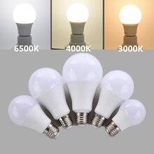 Светодиодная лампочсветильник Е27, естественный белый свет, 4000 к, 6500 К, теплый белый свет, 3000 К, 220 В, 230 В, 5 Вт, 7 Вт, 9 Вт, 12 Вт, 15 Вт, энергосберегающая шаровая лампа