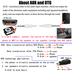 Image 5 - Cltgxdd USB หญิง V3 USB ชาย 90 องศามุมขวาด้านซ้าย UP OTG อะแดปเตอร์สำหรับรถยนต์ AUX แท็บเล็ตสีดำ Connector