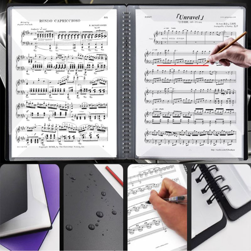 A3 Size Music Score Sheet Document File Folder Storage Organizer Holder Cases DXAC