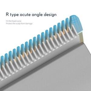 Image 2 - Kemei profissional máquina de cortar cabelo comprimento ajuste com fio aparador elétrico poderoso lâmina aço inoxidável máquina corte cabelo 35d