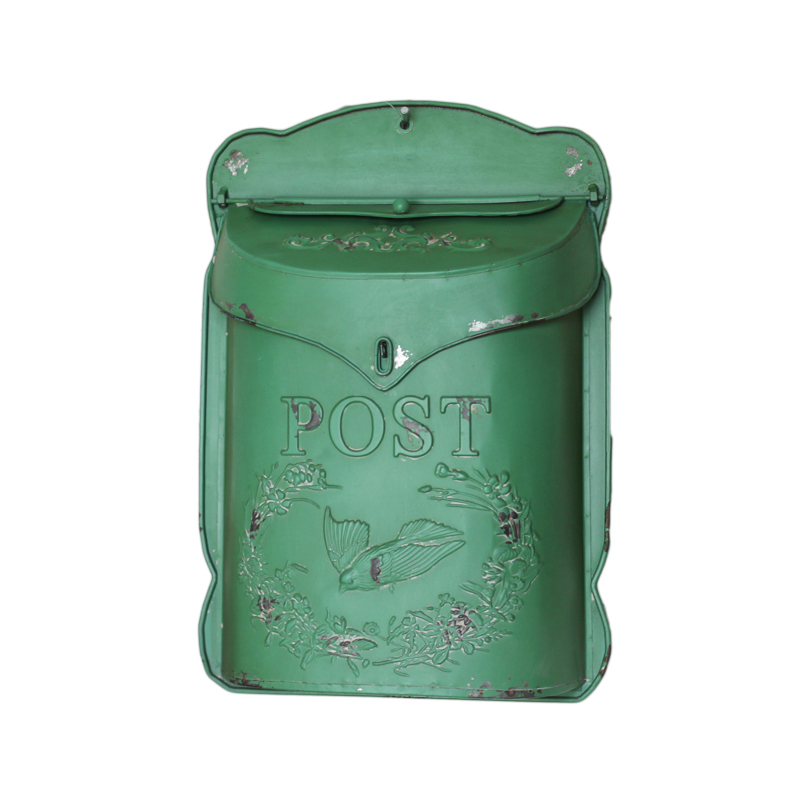 handcrafted wall mounted post box vintage metal mailbox